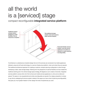 All the world is a [serviced] stage