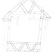 plastic corrugated board truss frame house