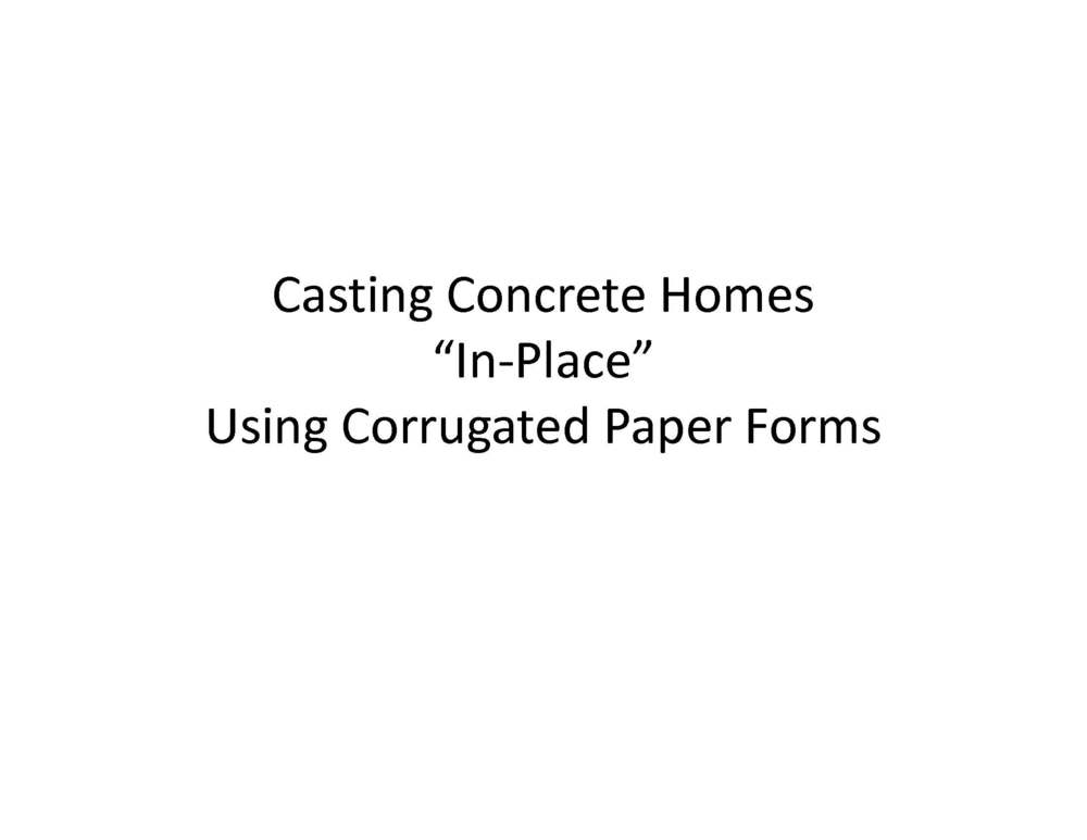 Method for casting concrete homes page 01 bigger