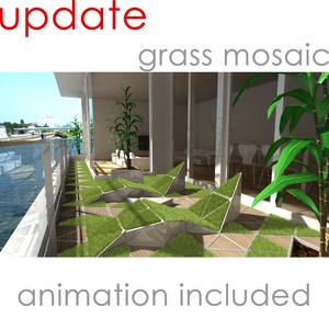 grass mosaic