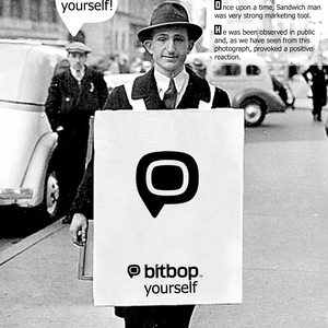 bitbop yourself - Sandwich man