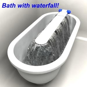 Bath with waterfall!