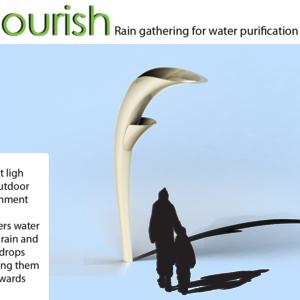 Nourish- rain gathering for water purification