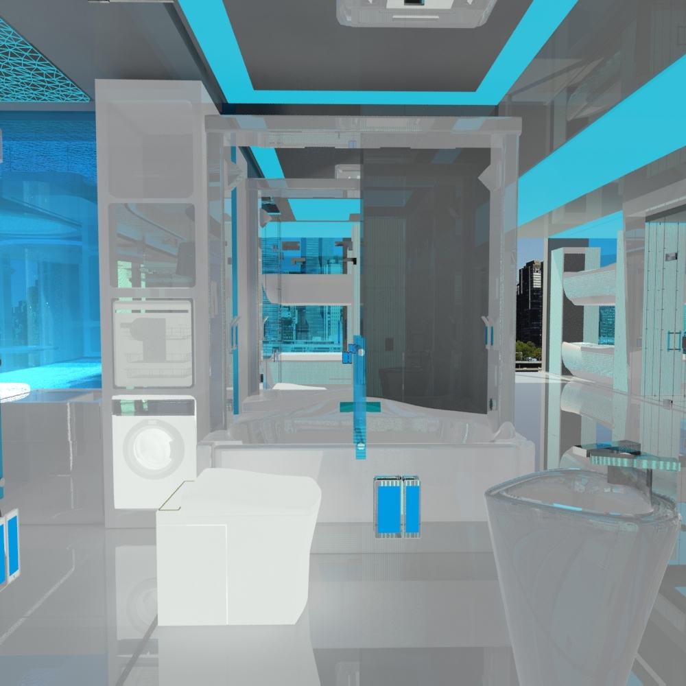 Jovoto future space smart room hotel room 2022 - Bathrooms for small spaces concept ...