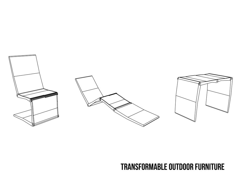 Jovoto Transformable Furniture Dining Outdoors Garden Unique