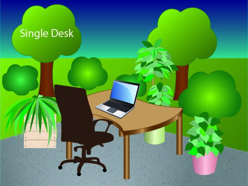 Single desk bigger