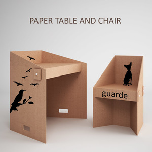 Paper table and chair