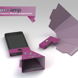 your-amp    Der faltbare iPhone Lautsprecher