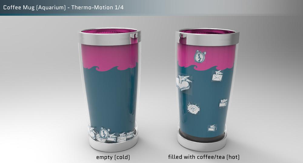 Coffee mug aquarium 1 bigger