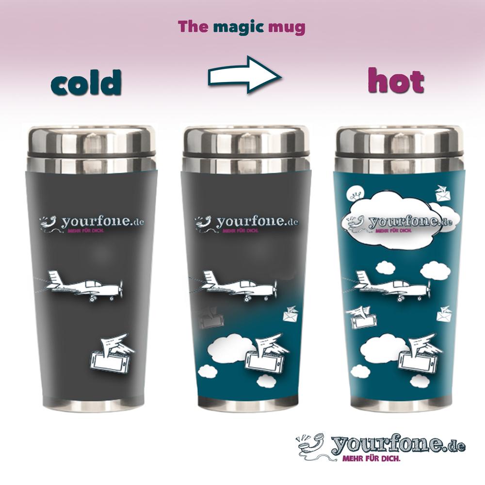 Magic mug gris bigger