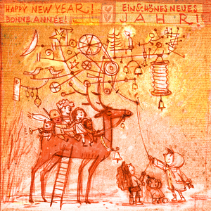 Children welcome the new year
