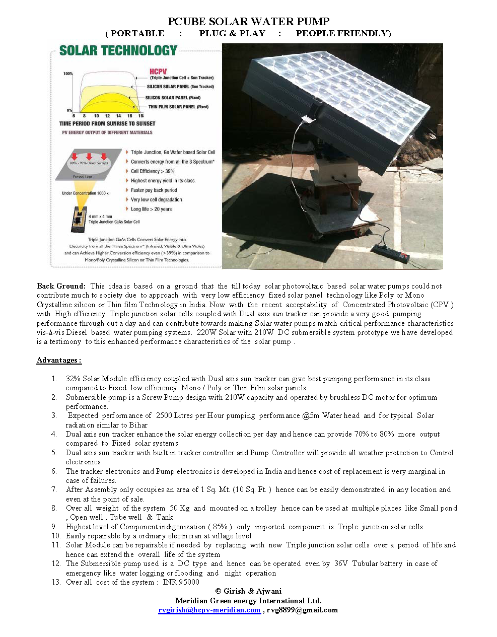 Pcube solar water pump bigger