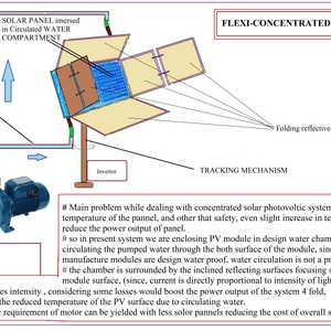 Concentrated solar P-V MODULE with inexpensive Cooling