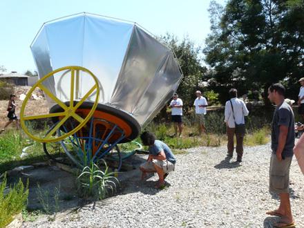 Solar stirling common waterpump 3 bigger