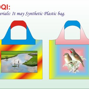 Designed colorful Bag: It may Synthetic Plastic Bag- Image with attractive view