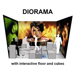 Diorama with interactive floor