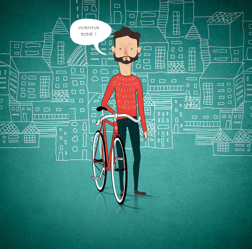 Ride your bike detail bigger