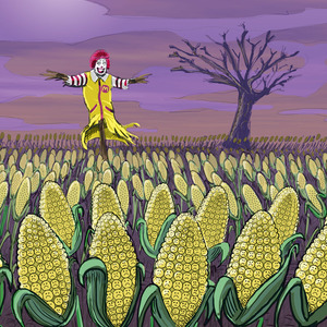 Scarecrow Ronald's GMO Fields