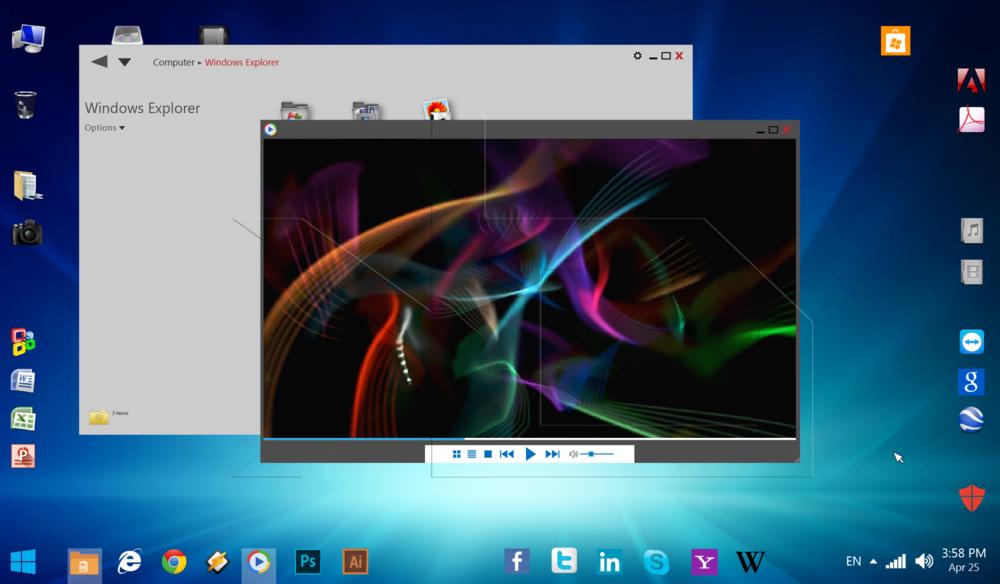jovoto / Windows OS GUI design idea 1 0 / Jovoto Portfolio Awards