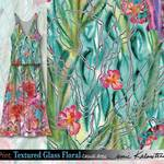 Textured Glass Floral