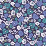 Textured Indigo Stylized Florals
