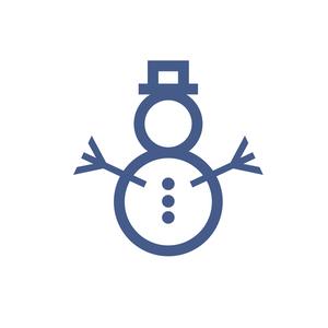 Minimalistic snowman