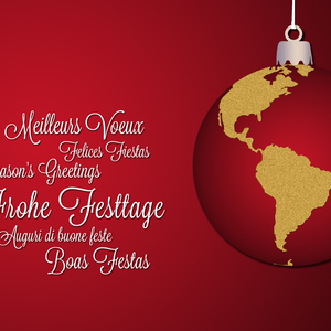 Season's greetings for all people on the world