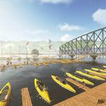 Animated pontoon bridge