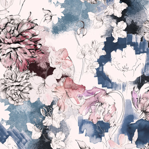 Textile Pattern - Romantic Sketch