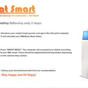 Eat Smart-Info Point Concept for restaurants