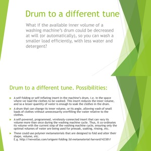 Drum to a different tune