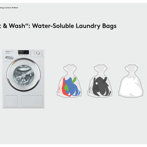 """Collect & Wash"": Water-Soluble Laundry Bags"