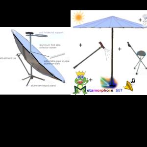 Solar Cooker/ parasol/light screen/umbrella/ comfort walking stick /sit