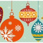Christmas baubles card
