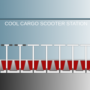 cool cargo e-scooter